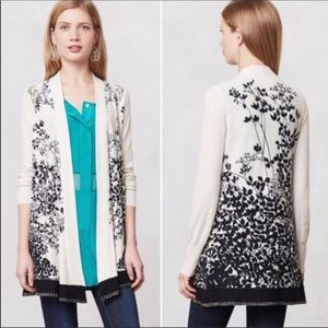 Anthropologie | Falling Fronds Leaf Cardigan